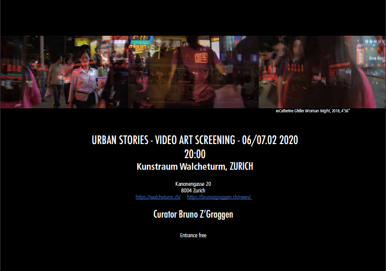 URBAN STORIES - VIDEO ART SCREENING - 06/07.02 2020, Zurich